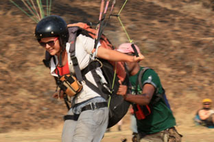 learning of paragliding at flynirvana