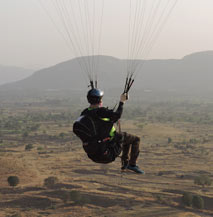 paraglider at kamshet